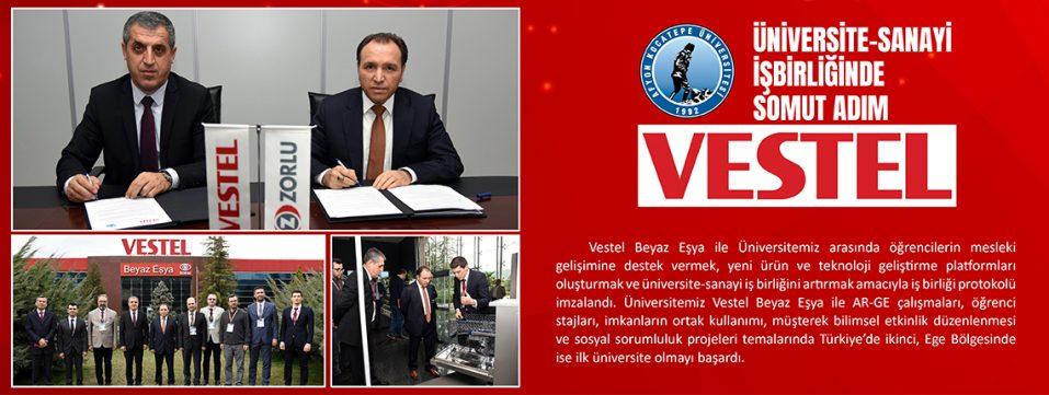 AKÜ ile Vestel Arasında İş Birliği Protokolü İmzalandı